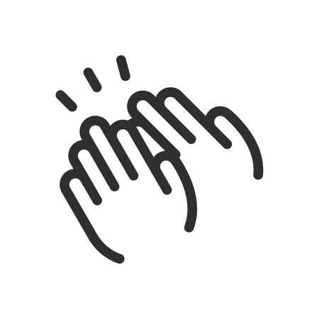Icono de manos aplaudiendo - Vector