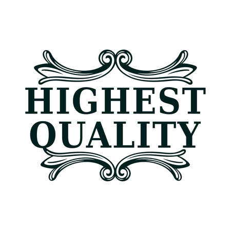 Highest quality stamp - Vector