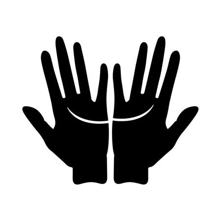 Heart line, palm reading (palmistry) - Vector