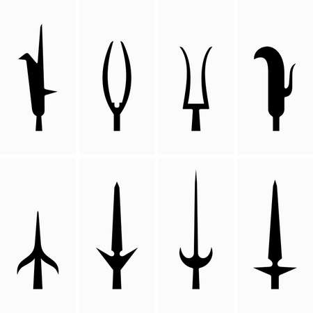 Pike, spear knives - Vector