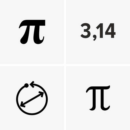 The number Pi, mathematical constant - Vector