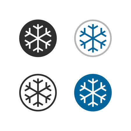 Snowflake, frozen product, no frost system technology - Vector Vetores