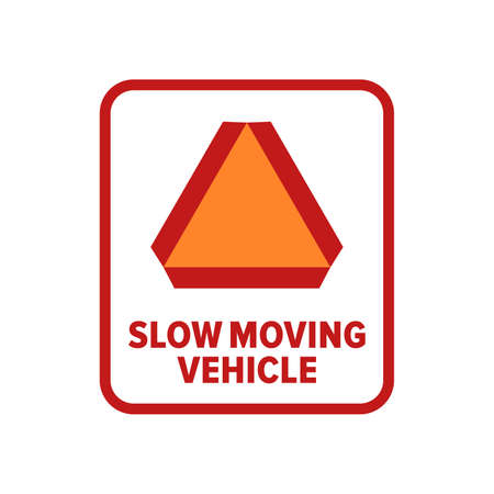 Slow Moving Vehicle symbol - Vector