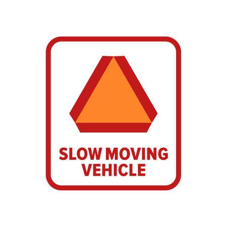 Symbol für langsames fahrendes Fahrzeug - Vektor