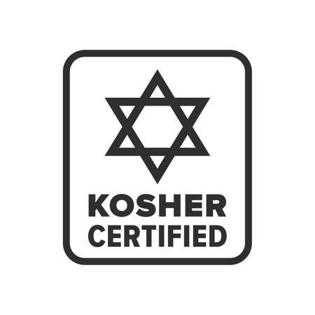 Kosher Certified symbol - Vector Illustration
