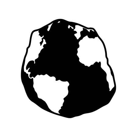 Geoid, shape of the Atlantic Ocean - Vector 일러스트
