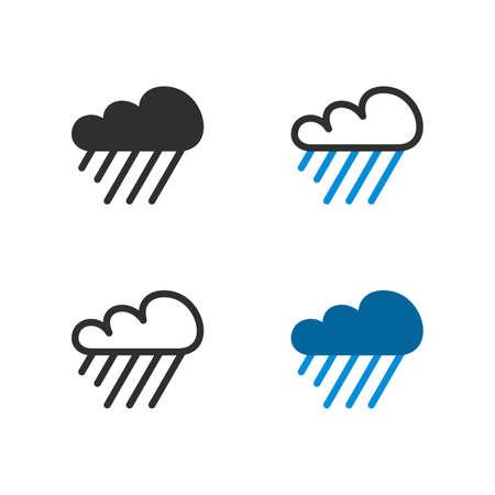 Heavy raining cloud - Vector Ilustrace