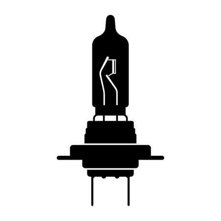 Halogen auto lamp, bulb - Vector Çizim