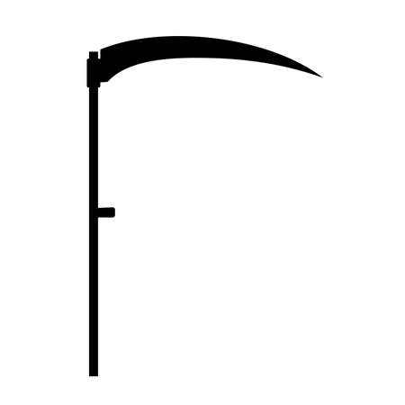Agricultural hand tool - scythe, mowing grass and reaping crop
