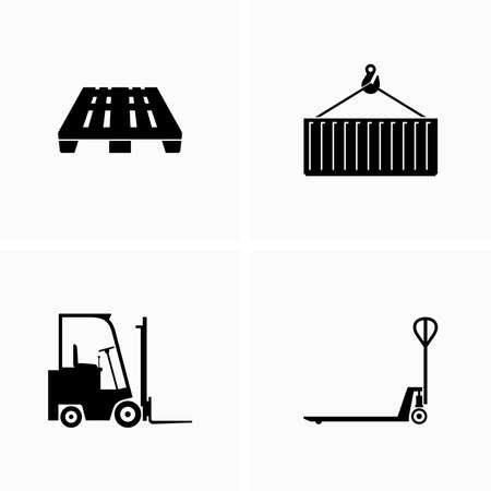 Warehouse equipment and supplies - Vector Illustration