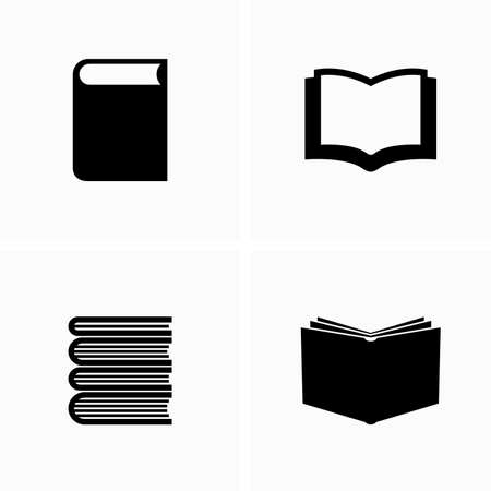 Education, reading and books in different positions - Vector