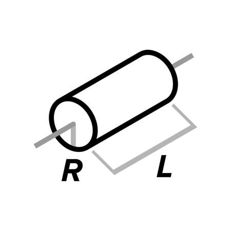 Solid cylinder about central axis - Vector