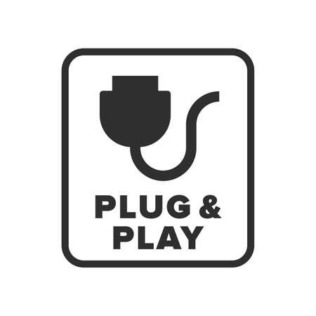 Symbole Plug & Play - Vecteur