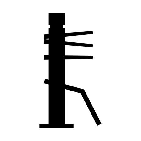 Wooden dummy for fighting trainings - Vector 矢量图像