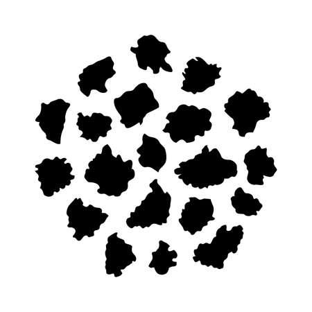 Organic buckwheat flakes - Vector Ilustração