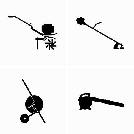 Backyard and garden equipment Illustration