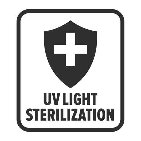 UV light sterilization technology sign