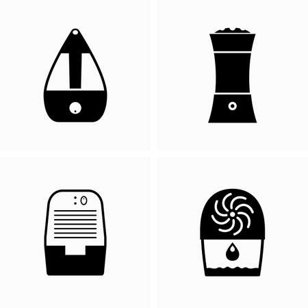 Devices for air preparation, purifier, humidifier, dryer and ozonizer