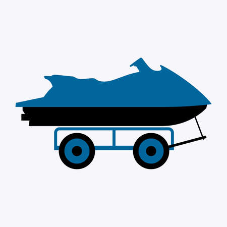 Personal watercraft on a mobile wheeled platform