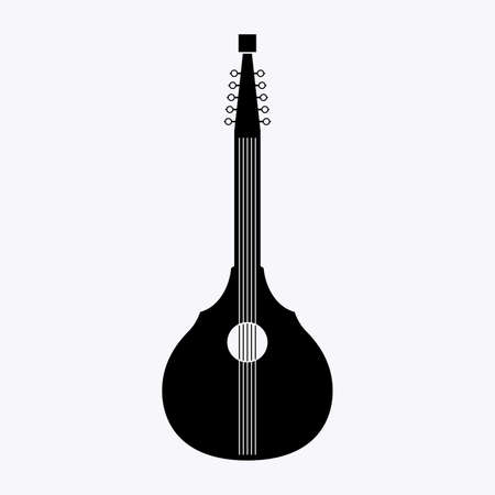 English guitar or citra, a cittern type stringed musical instrument