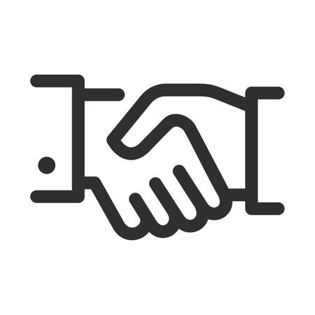 Good deal handshake, symbol of a successful contract conclusion with profitable conditions