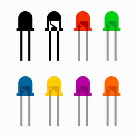 LEDs (Light-emitting diode), different colors