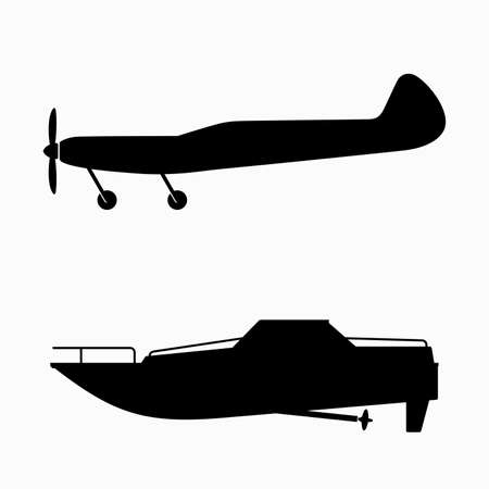Radio control airplane and boat models