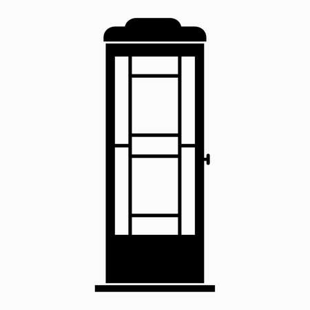 Old style traditional phone booth Stock Illustratie