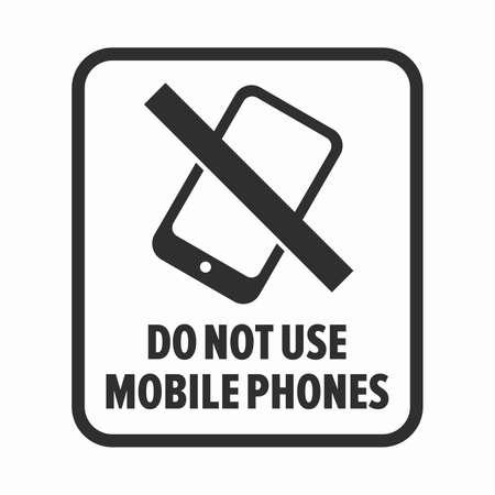 Do not use mobile phone symbol Иллюстрация