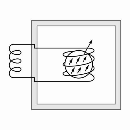 Nuclear magnetic resonance position gyroscope diagram Illusztráció