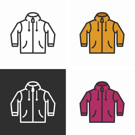 Modern long sleeve hoodie, windcheater jacket