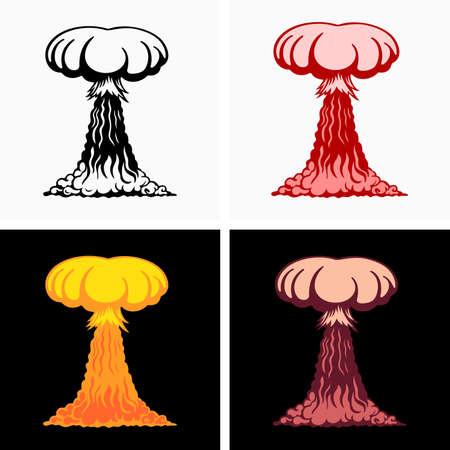 Radioactive atmospheric ground nuclear explosion Stock fotó - 137946186