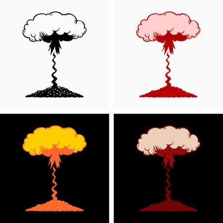 High altitude atmospheric nuclear explosion 向量圖像