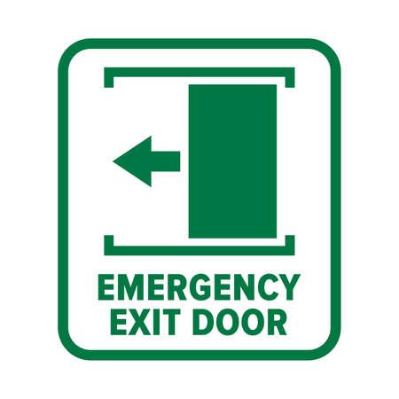 Emergency fire exit door sign