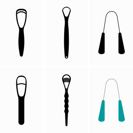 Set of tongue scrapper cleaners, oral hygiene devices