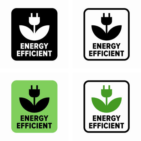 Energy efficient, eco power symbol