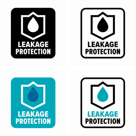Liquid leakage protection system symbol