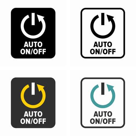 Símbolo del botón del interruptor de encendido y apagado automático