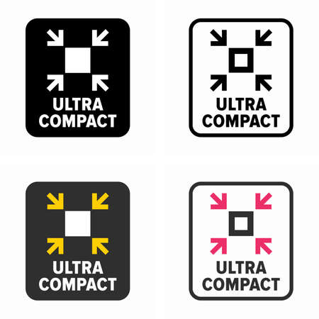 Ultra compact size, dimension symbol