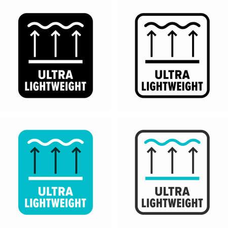 Ultra lightweight, item weightless property symbol