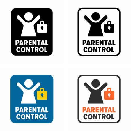 Parental control, content access restriction symbol