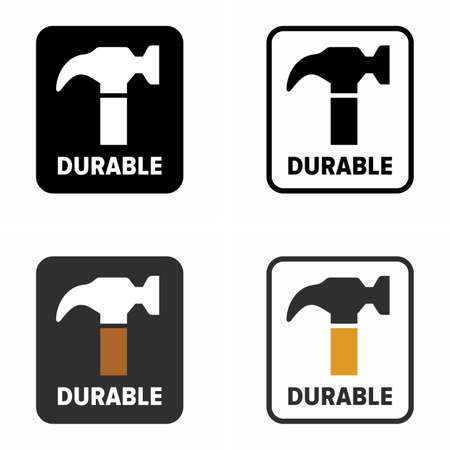 Durable, hardwearing item property symbol