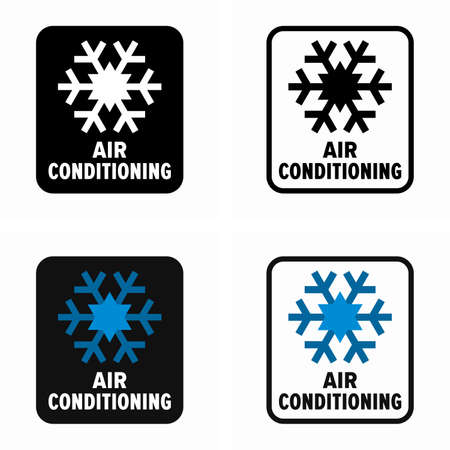 Air conditioning cooling system information sign
