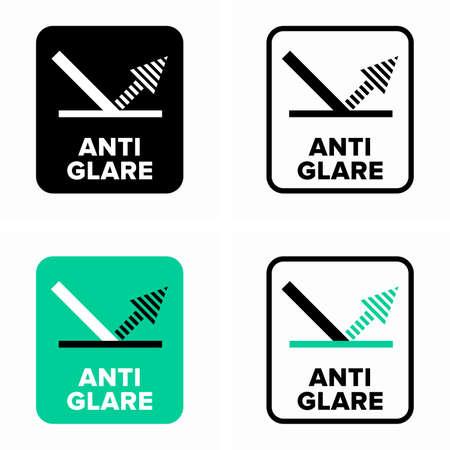 Anti glare or anti reflective coating information sign