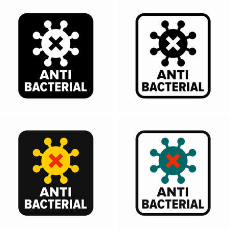 Antibacterial or antimicrobial property information sign
