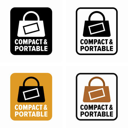 Compact and portable item property and advantage information sign