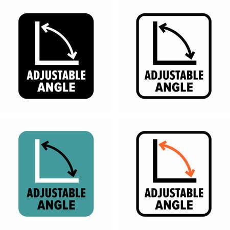 Adjustable angle recline information sign 向量圖像