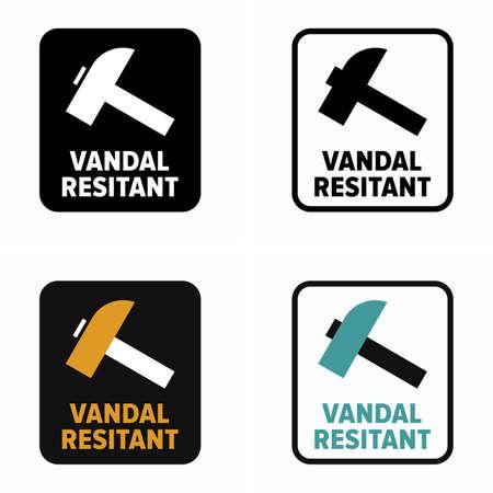 Vandal resistant, proof safe standard