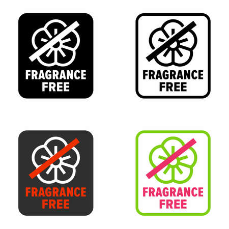 """""""Fragrance free"""" no scent products and materials information sign"""