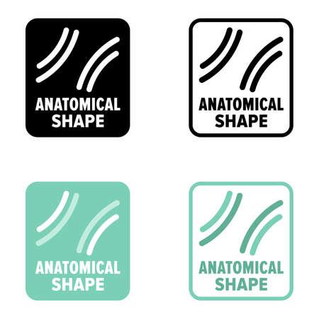 Anatomical shape medical, ergonomic and comfort, information sign